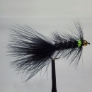 Woolly Bugger Bead Head Black Green Spot