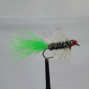 Woolly Bugger Real Eyes Black Green