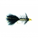Woolly Bugger Black Flash Gold Bullet #4