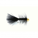 Woolly Bugger Black Gold Nugget #8