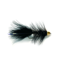 Woolly Bugger Black Conehead Tungsten #4